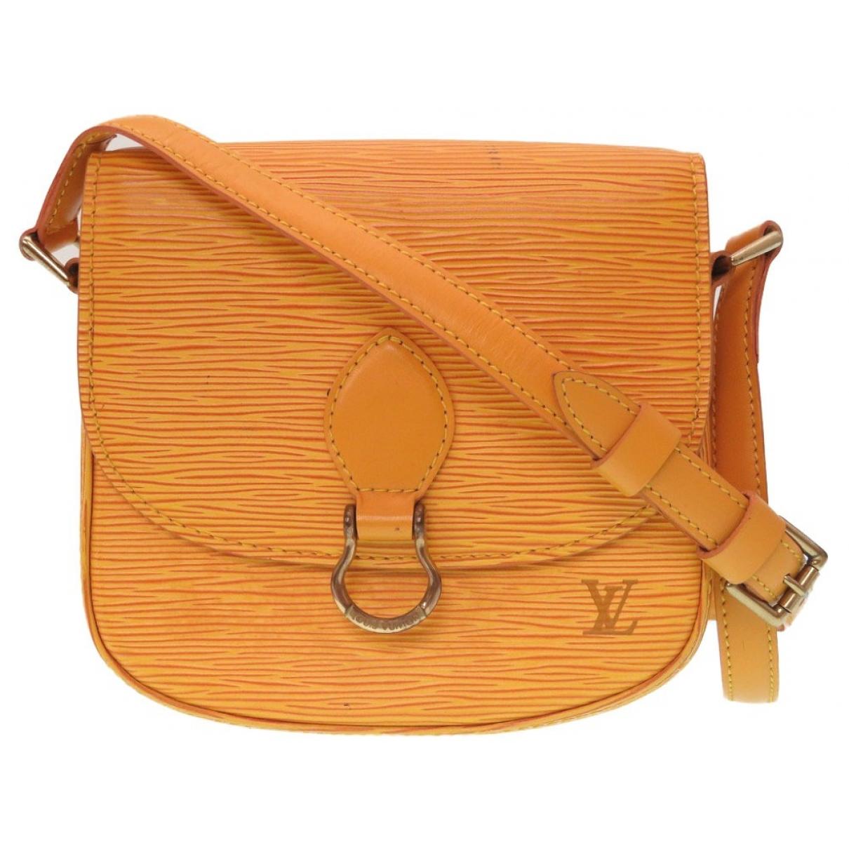 Louis Vuitton - Sac a main Saint Cloud vintage pour femme en cuir - jaune