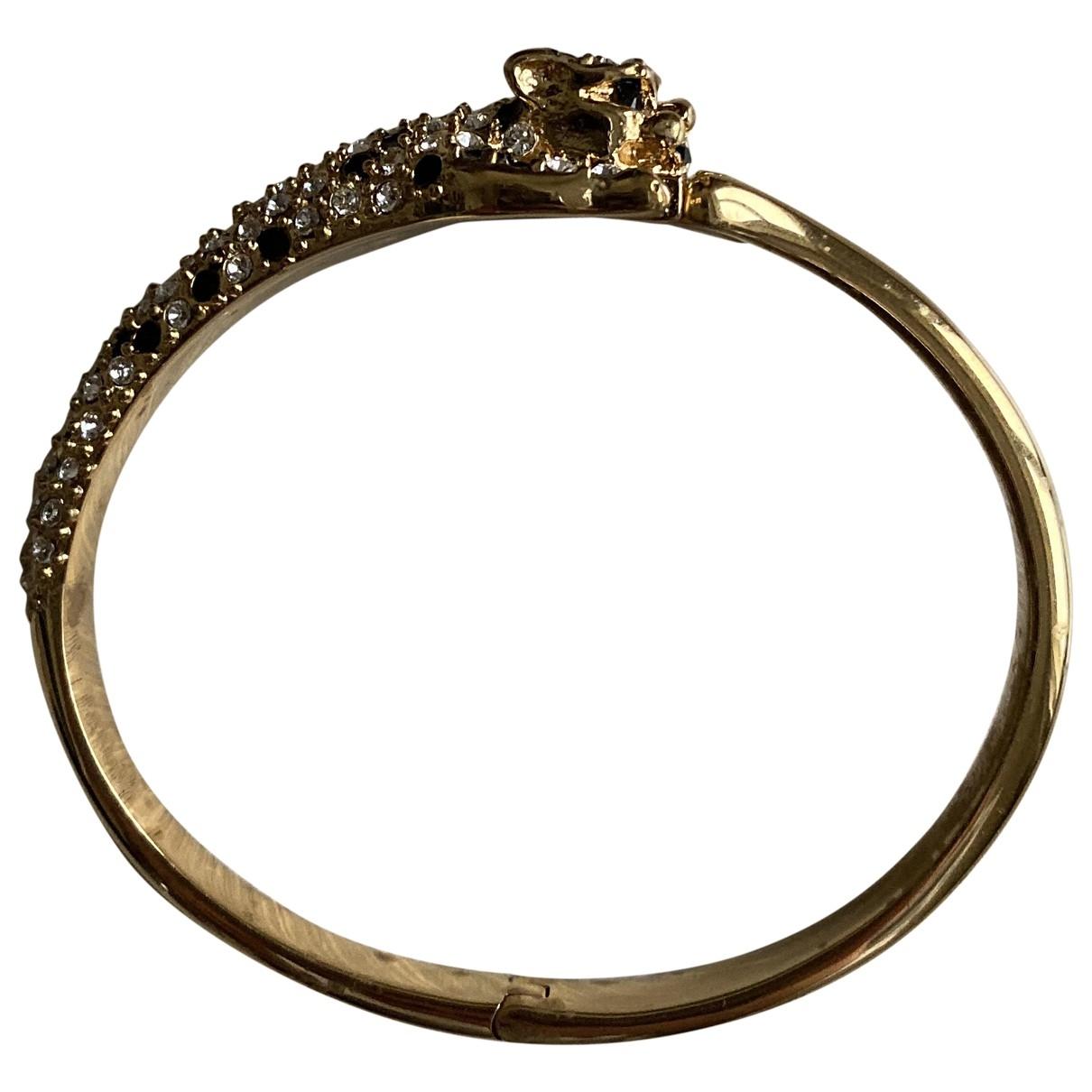 Saint Laurent - Bracelet   pour femme en plaque or - dore