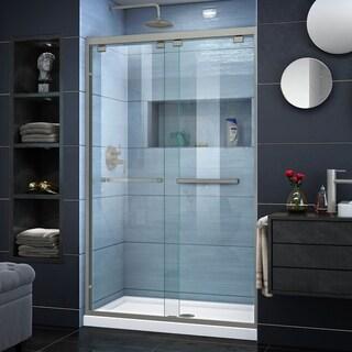DreamLine Encore 36 in. D x 48 in. W x 78 3/4 in. H Bypass Sliding Shower Door and Shower Base Kit - 36