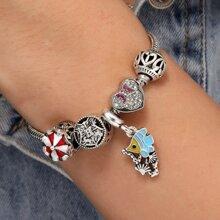 Armband mit Strass und Herzen Dekor
