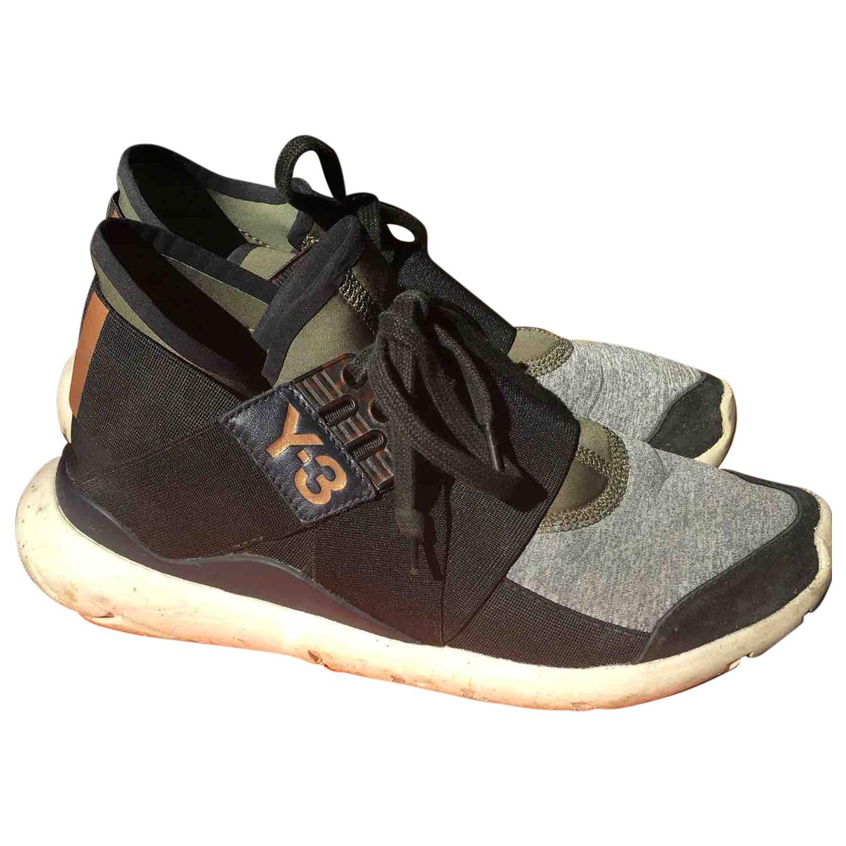 Y-3 \N Sneakers in  Grau Leinen