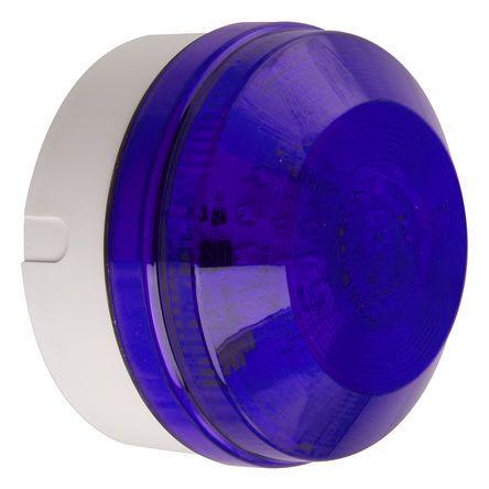 Moflash LED195 Blue LED Beacon, 35 → 85 V ac/dc, Flashing, Surface Mount, Wall Mount