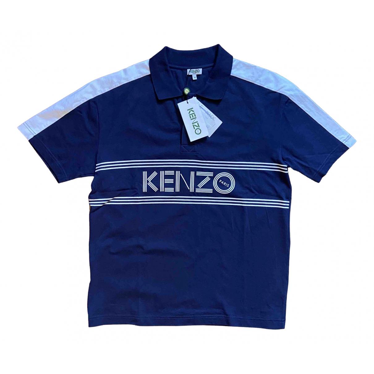 Kenzo - Tee shirts   pour homme en coton - bleu