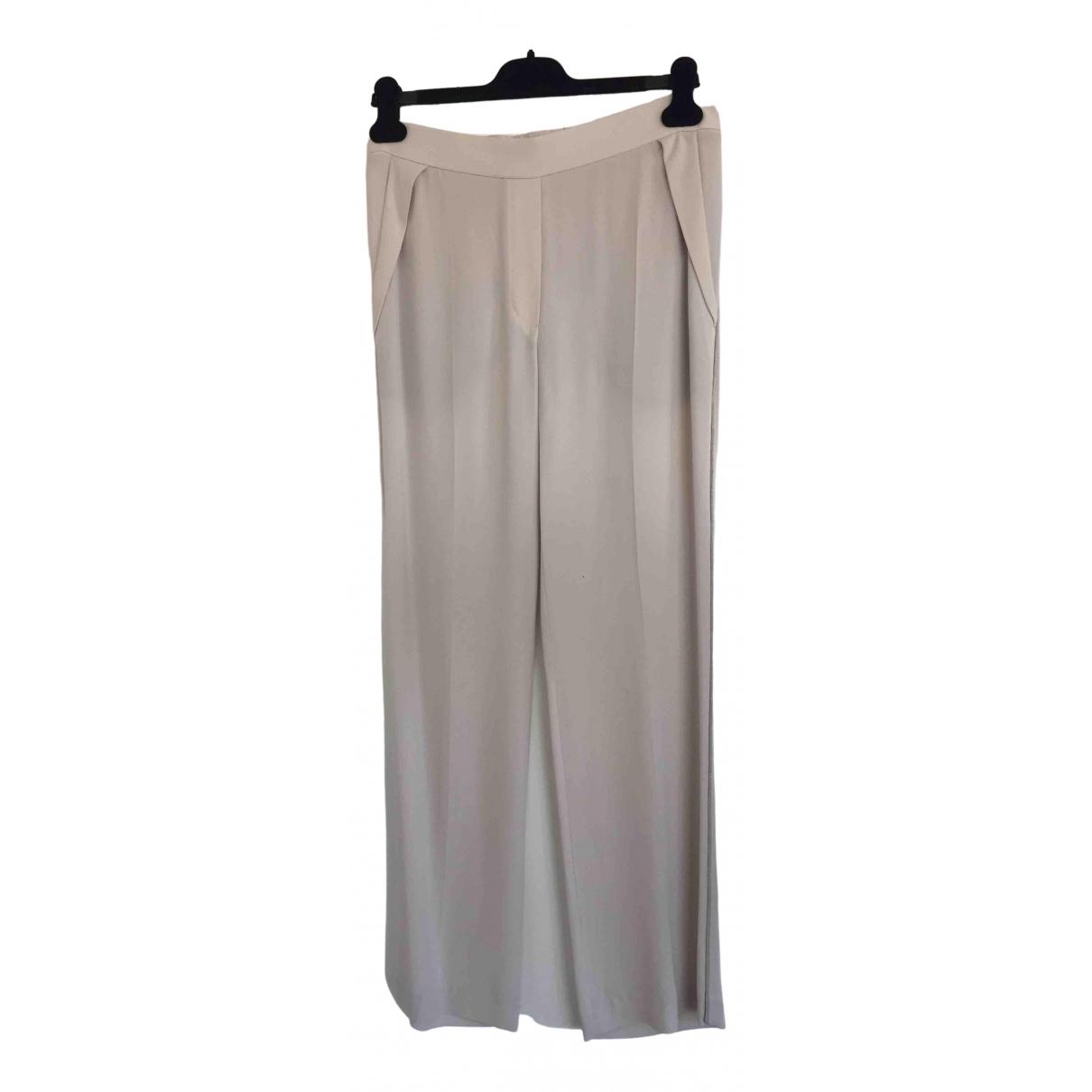 Pantalon recto de Seda Brunello Cucinelli