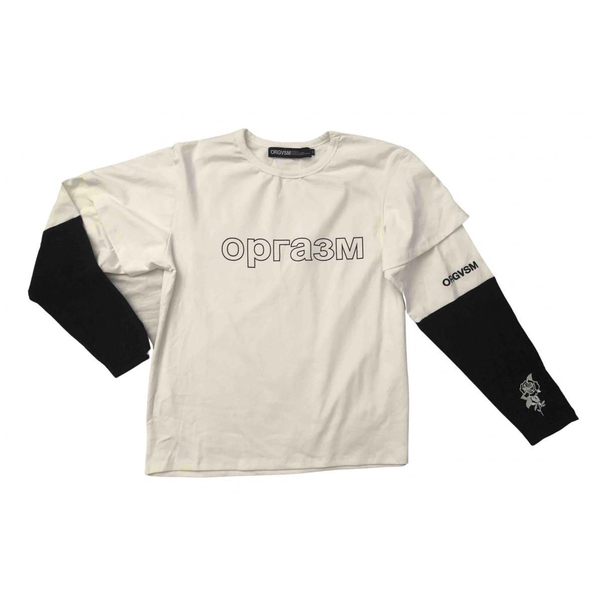 Orgvsm - Tee shirts   pour homme en coton - blanc