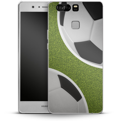 Huawei P9 Silikon Handyhuelle - Two Footballs von caseable Designs