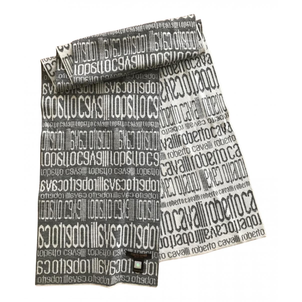 Roberto Cavalli N Grey Wool scarf for Women N