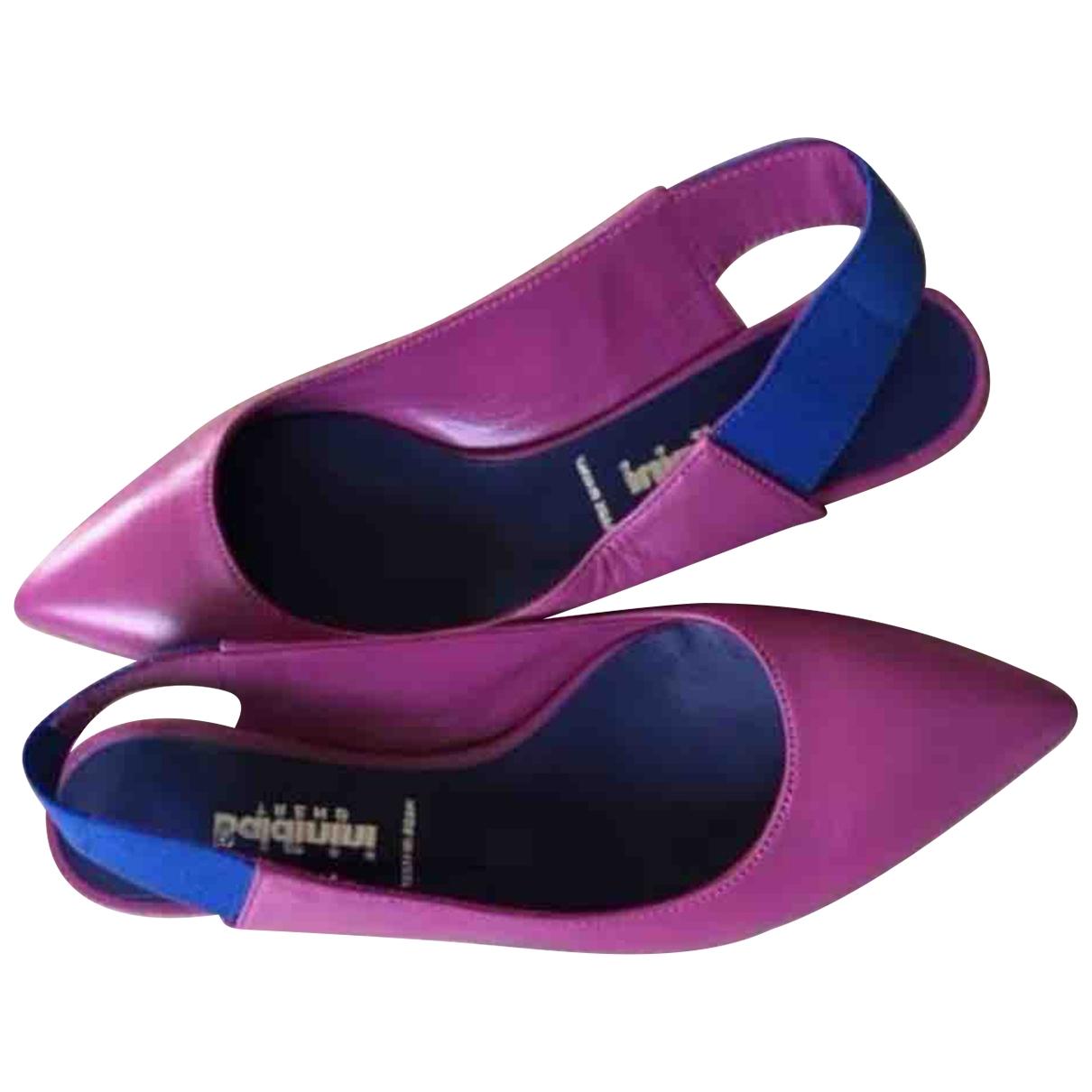Baldinini - Ballerines   pour femme en cuir - rose