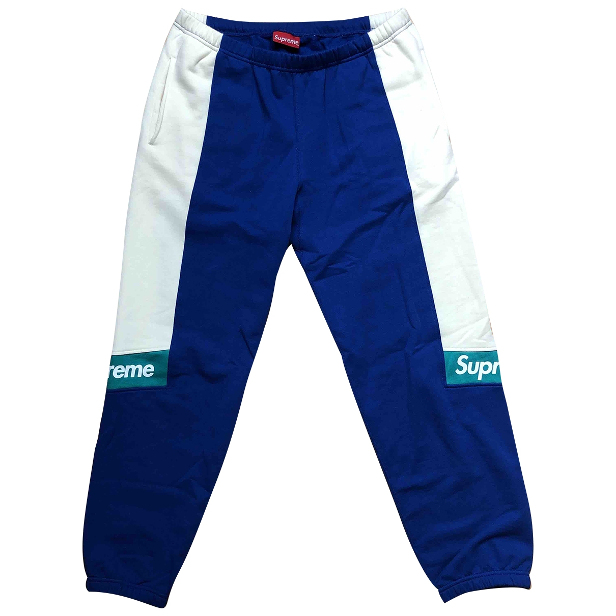 Pantalones en Algodon Azul Supreme