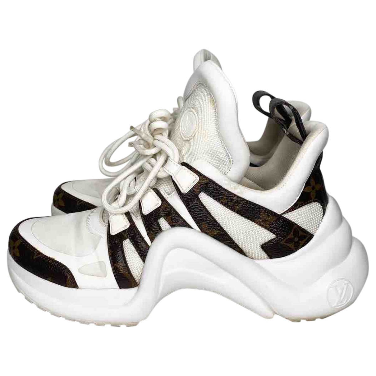 Louis Vuitton Archlight White Cloth Trainers for Women 38 EU