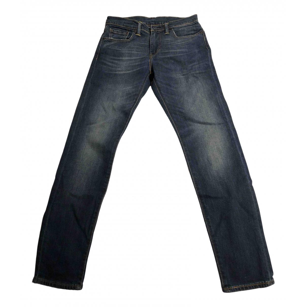 Levi's 512 Blue Cotton Jeans for Men 29 US