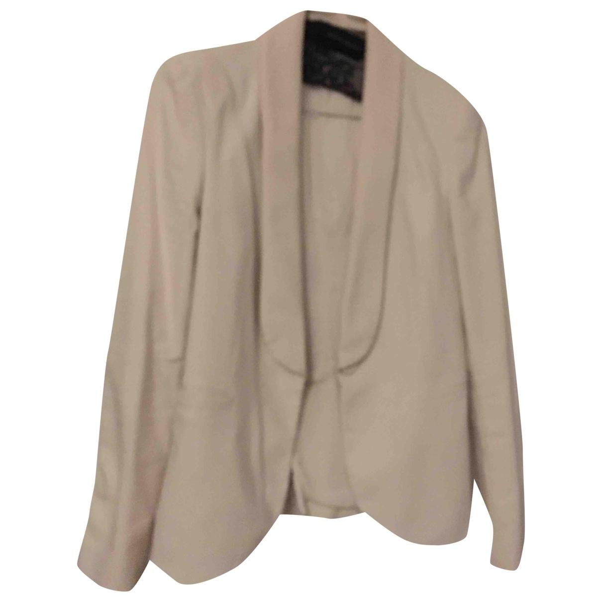 Zara \N White Cotton jacket for Women 34 FR