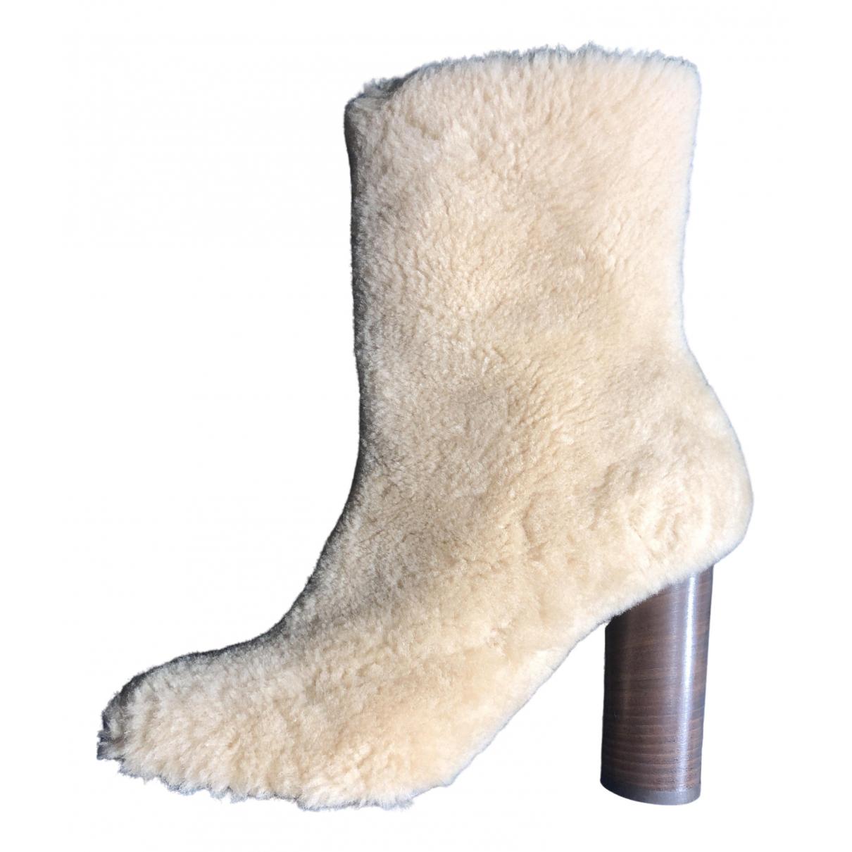 Anya Hindmarch \N Stiefel in  Beige Schaf