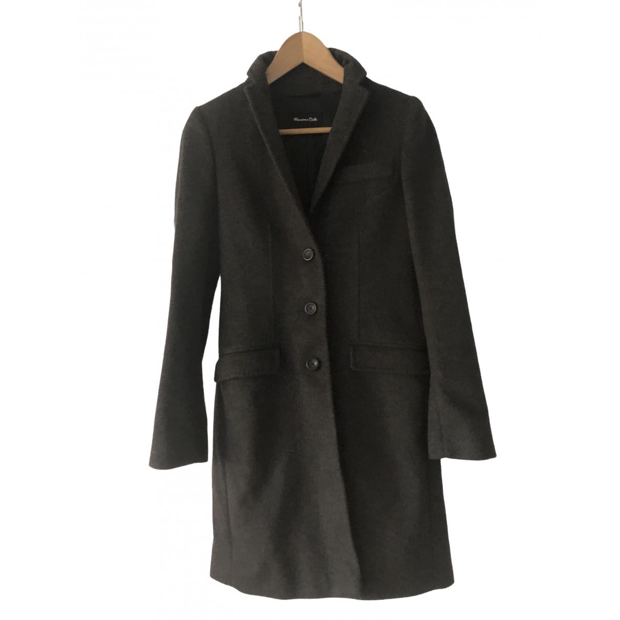 Massimo Dutti - Manteau   pour femme en laine - gris