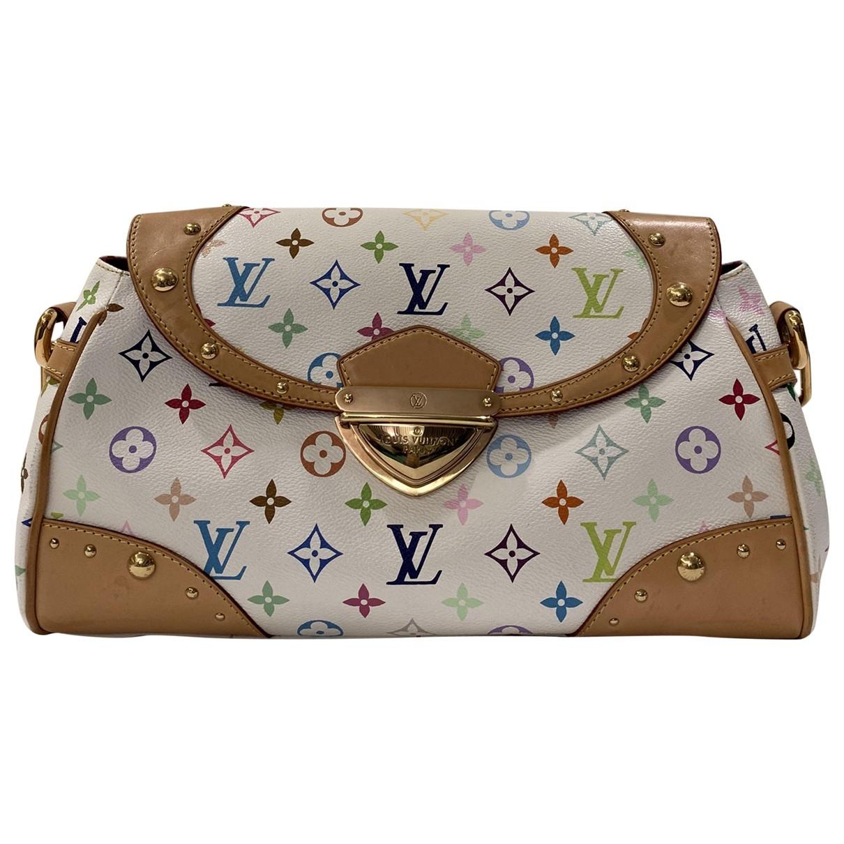 Louis Vuitton - Sac a main Beverly pour femme en toile - blanc