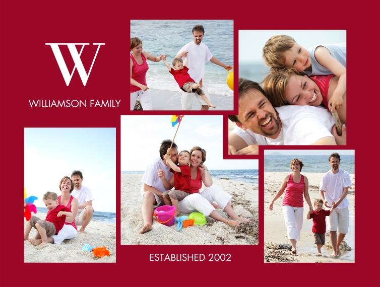 Everyday Plush Fleece Photo Blanket, 60x80, Gift -Blanket Classic Monogram Collage by Tumbalina