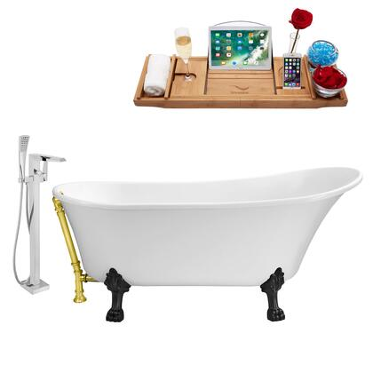 NH340BL-GLD-100 Faucet and Tub Set with 67