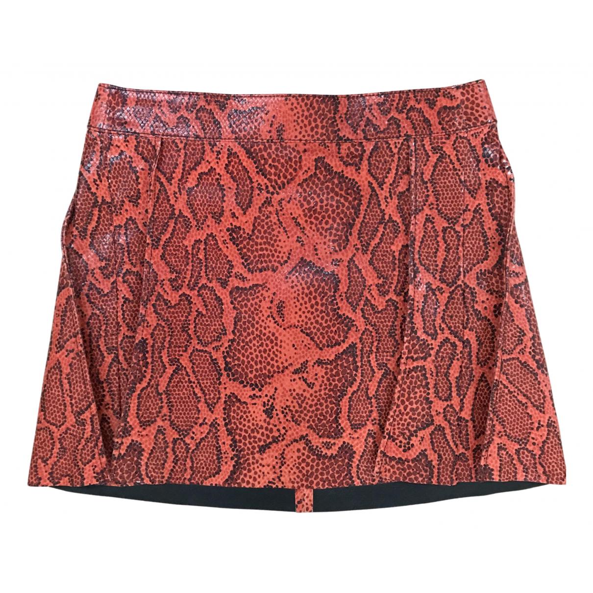 Mini falda de Cuero Chloe