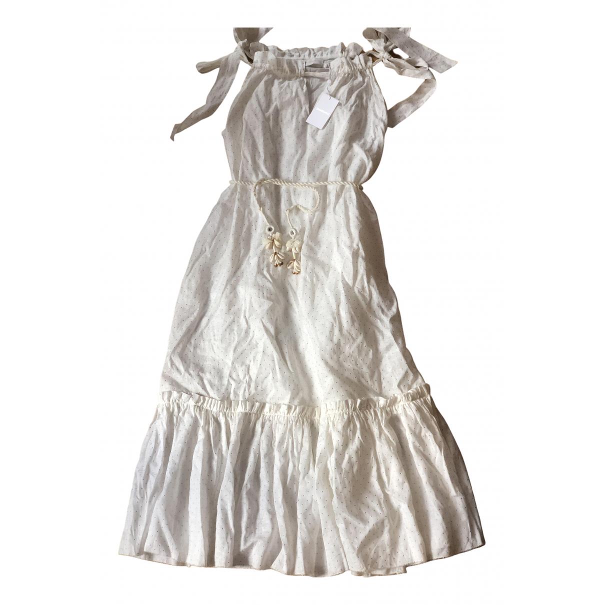 Zimmermann \N Kleid in  Ecru Leinen