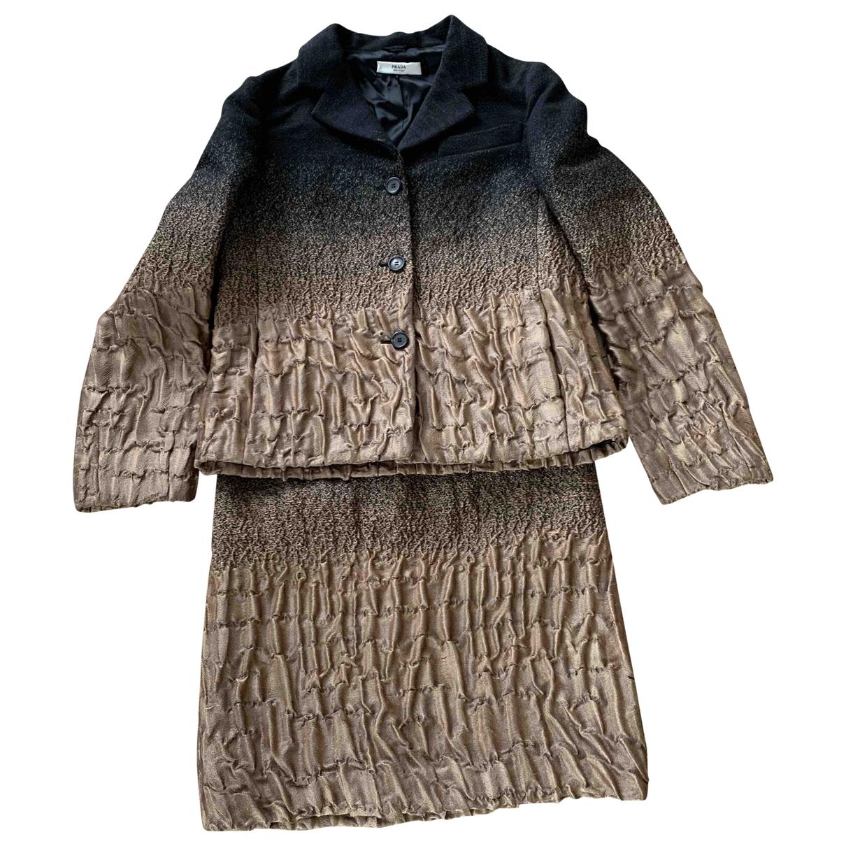 Prada \N Multicolour Wool skirt for Women 42 IT