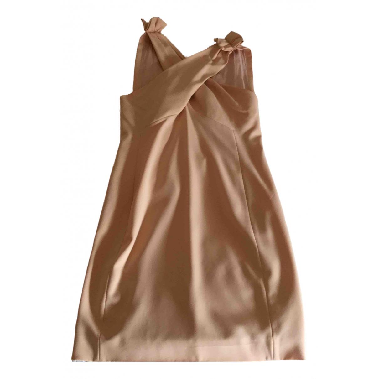 Moschino \N Kleid in  Orange Polyester