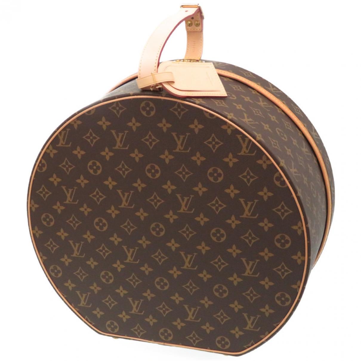 Louis Vuitton - Objets & Deco Boite a Chapeau pour lifestyle en toile - marron