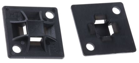 HellermannTyton Black Cable Tie Mount 20 mm x 20mm, 4mm Max. Cable Tie Width