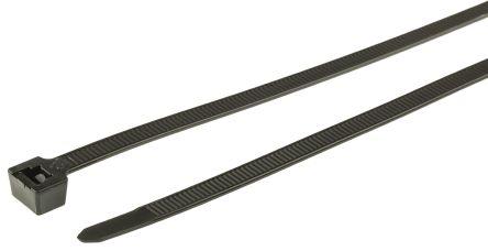 HellermannTyton , T150R Series Black Nylon Cable Tie, 365mm x 7.6 mm