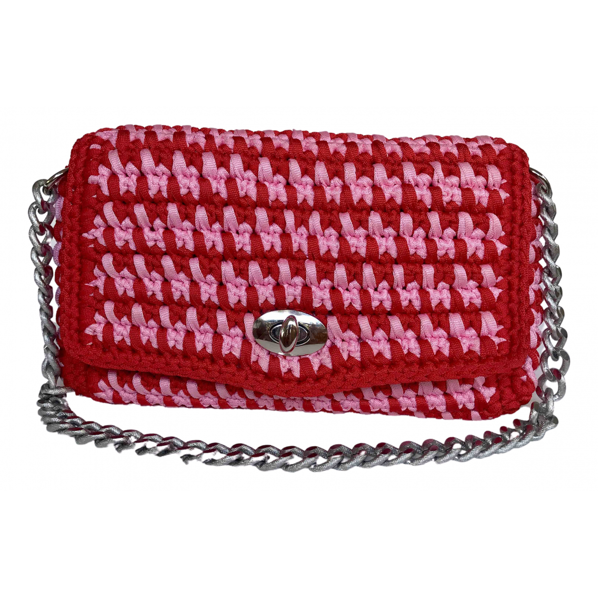 Non Signe / Unsigned \N Handtasche in  Rot Polyester