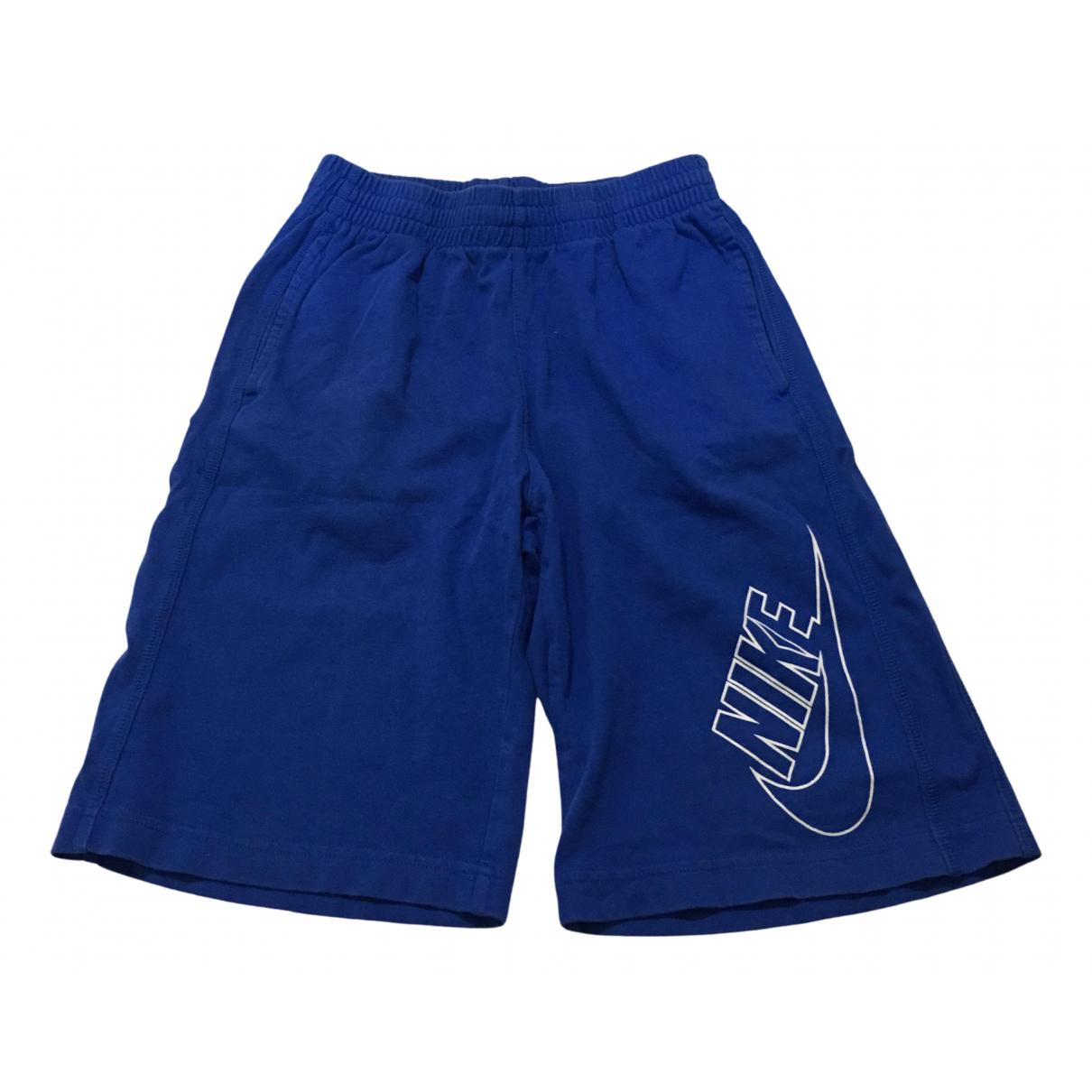 Nike \N Shorts in  Blau Baumwolle