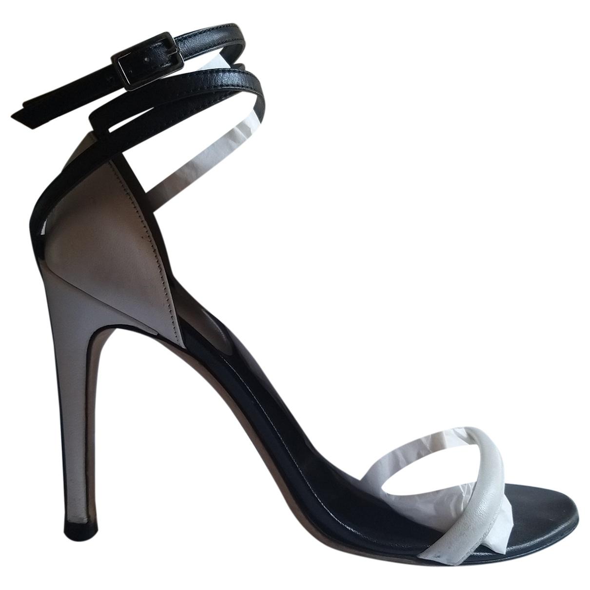 Sergio Rossi - Sandales   pour femme en cuir - blanc