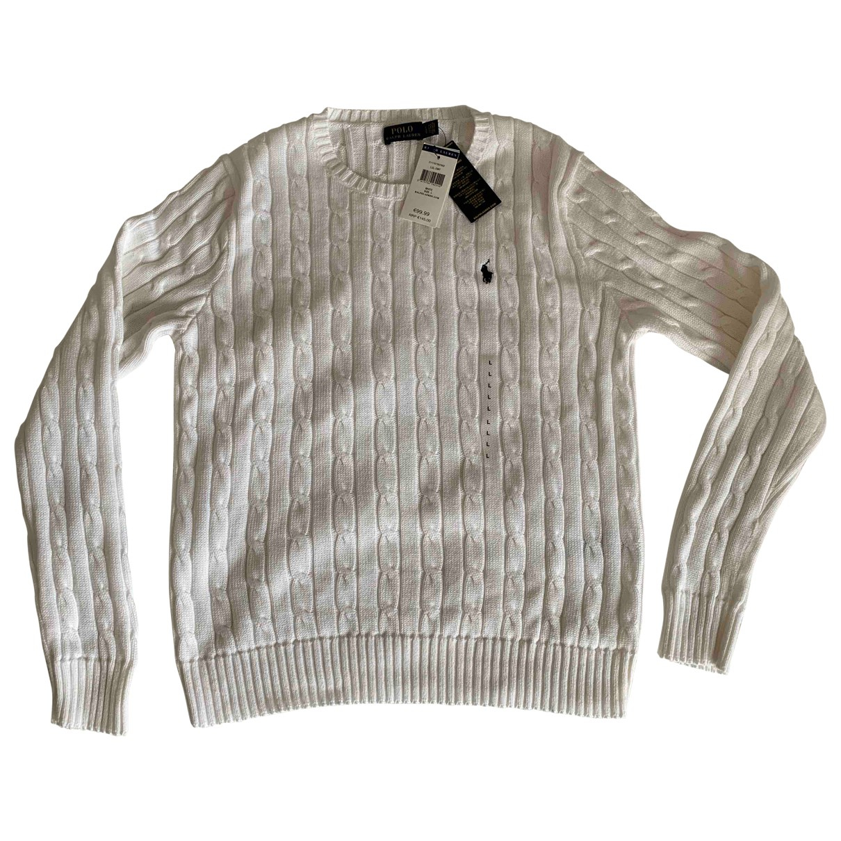 Polo Ralph Lauren N White Cotton Knitwear for Women L International