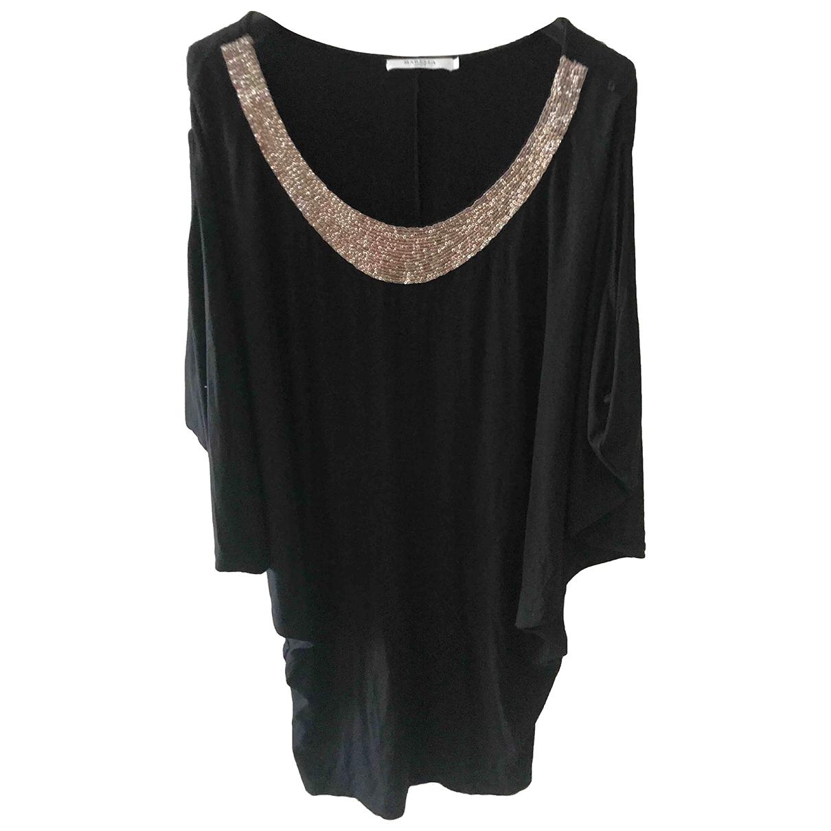 Marella - Robe   pour femme en coton - elasthane - noir