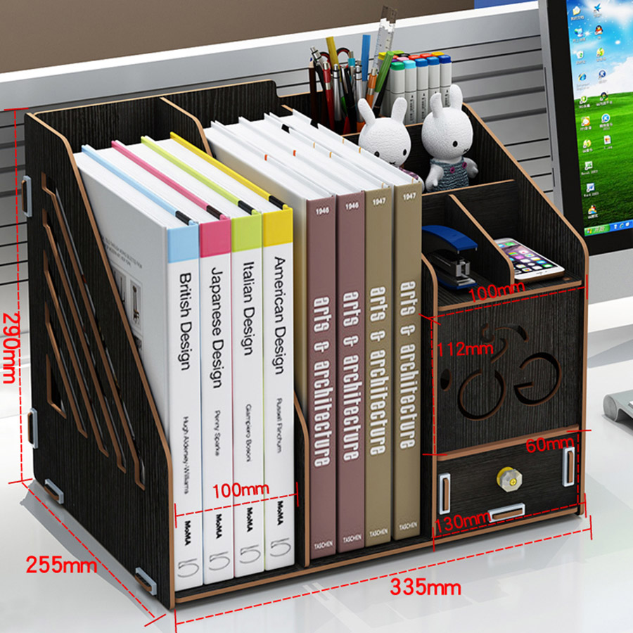 Office Supplies Drawer Type Creative Bookshelf Storage Box