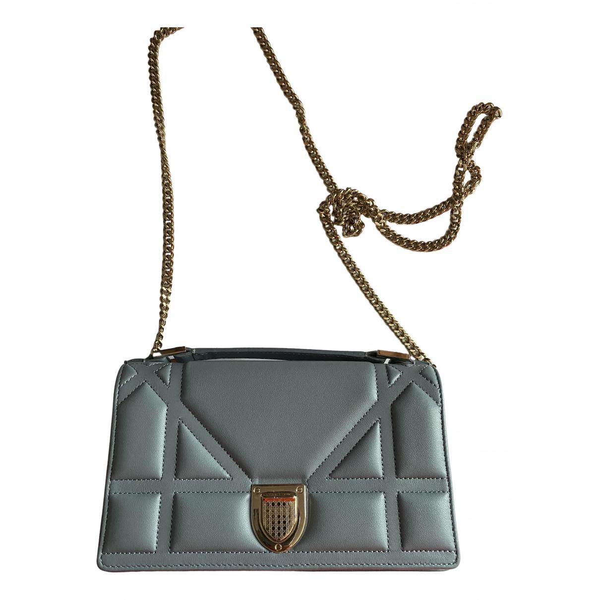 Dior - Sac a main Diorama pour femme en cuir - gris
