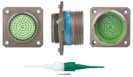 Souriau , 8D 79 Way Panel Mount MIL Spec Circular Connector Receptacle, Pin Contacts,Shell Size 21, Screw Coupling,