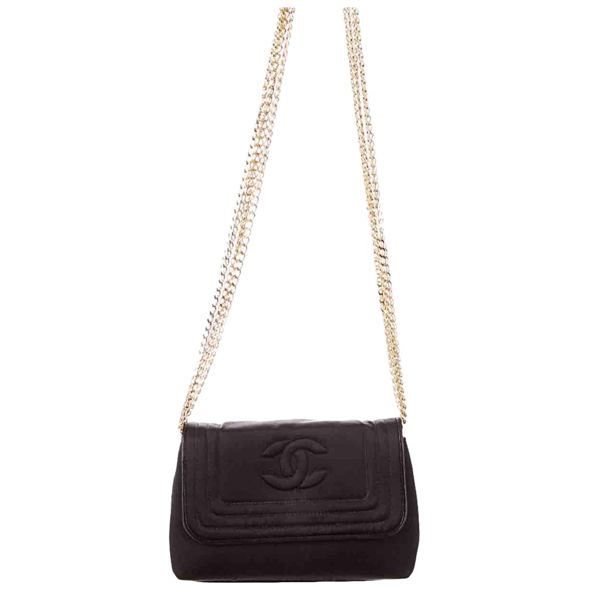 Chanel \N Handtasche in  Schwarz Seide