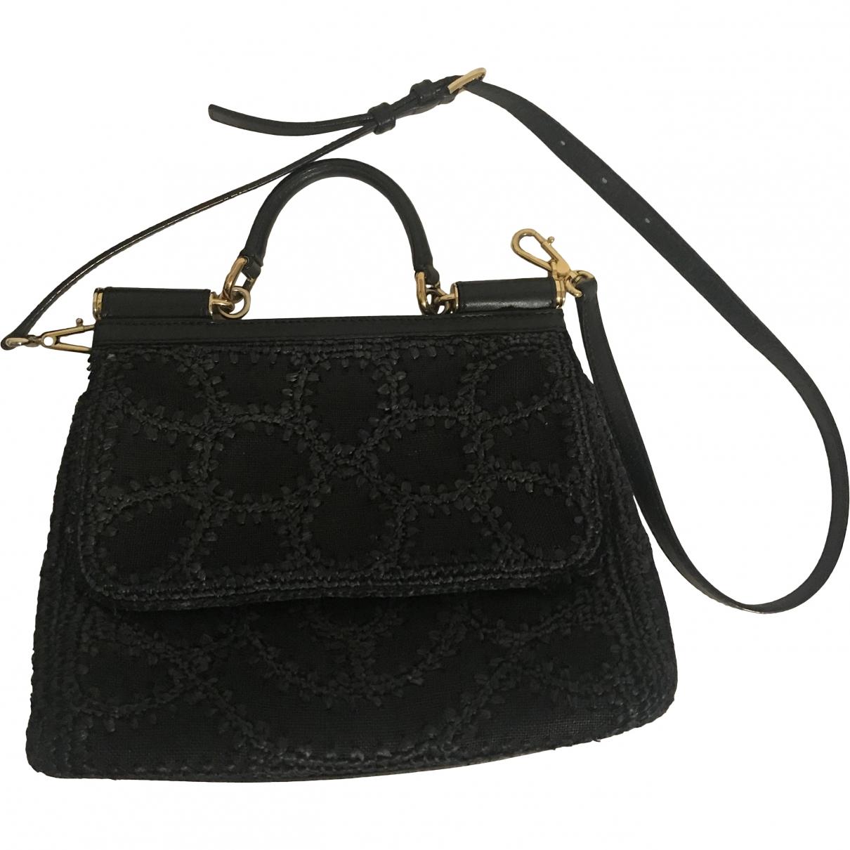 Dolce & Gabbana Sicily Black Wicker handbag for Women \N