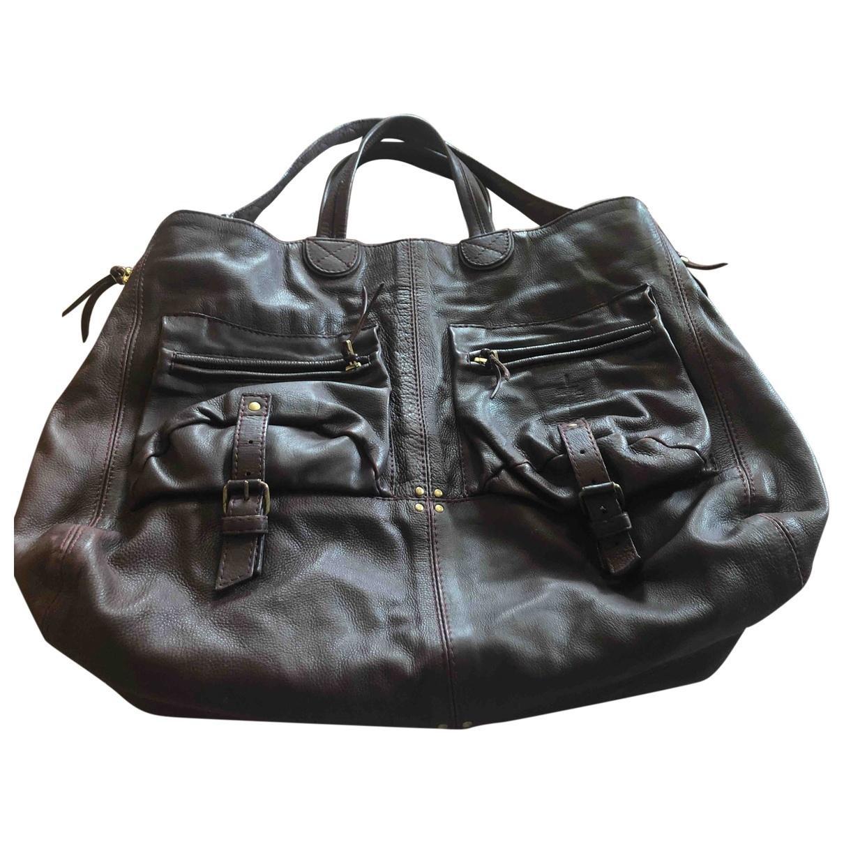 Jerome Dreyfuss \N Burgundy Leather handbag for Women \N