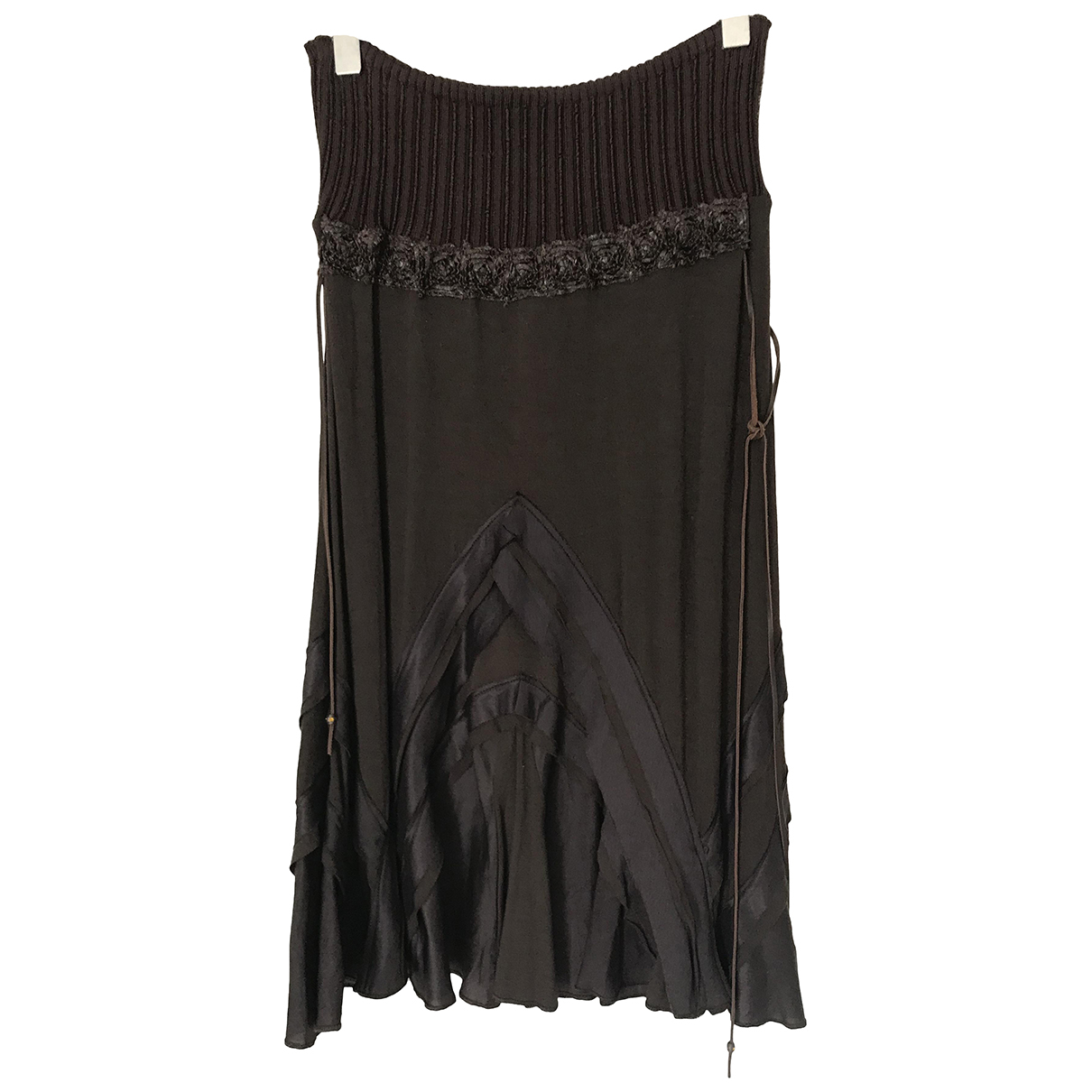 Class Cavalli N Brown skirt for Women 42 IT