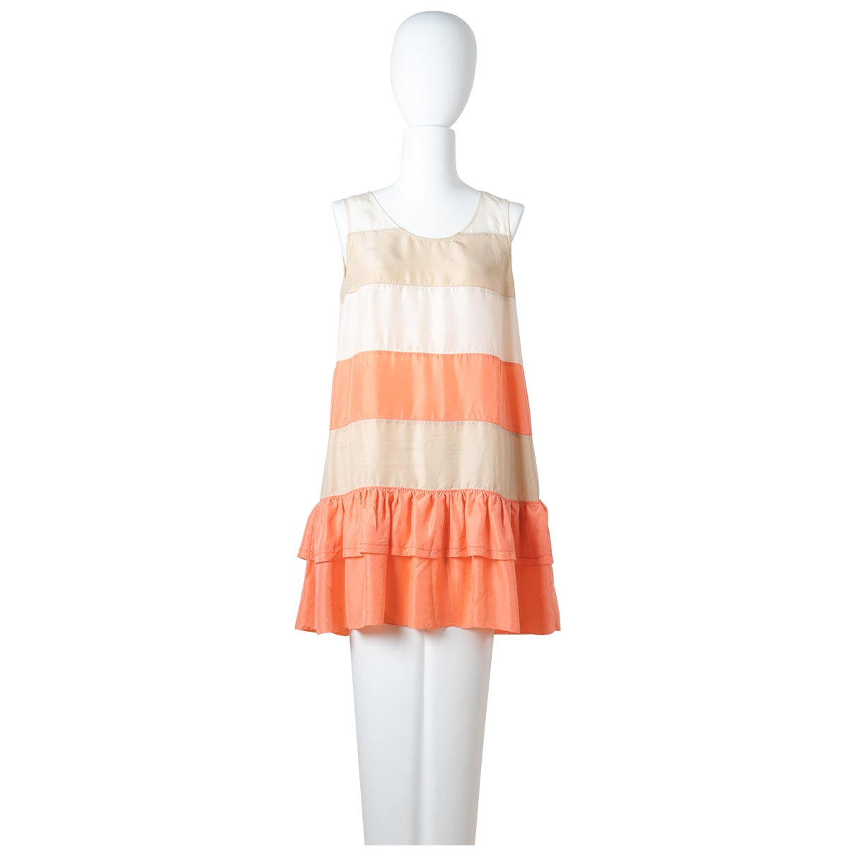 See By Chloe \N Kleid in  Beige / Orange Seide