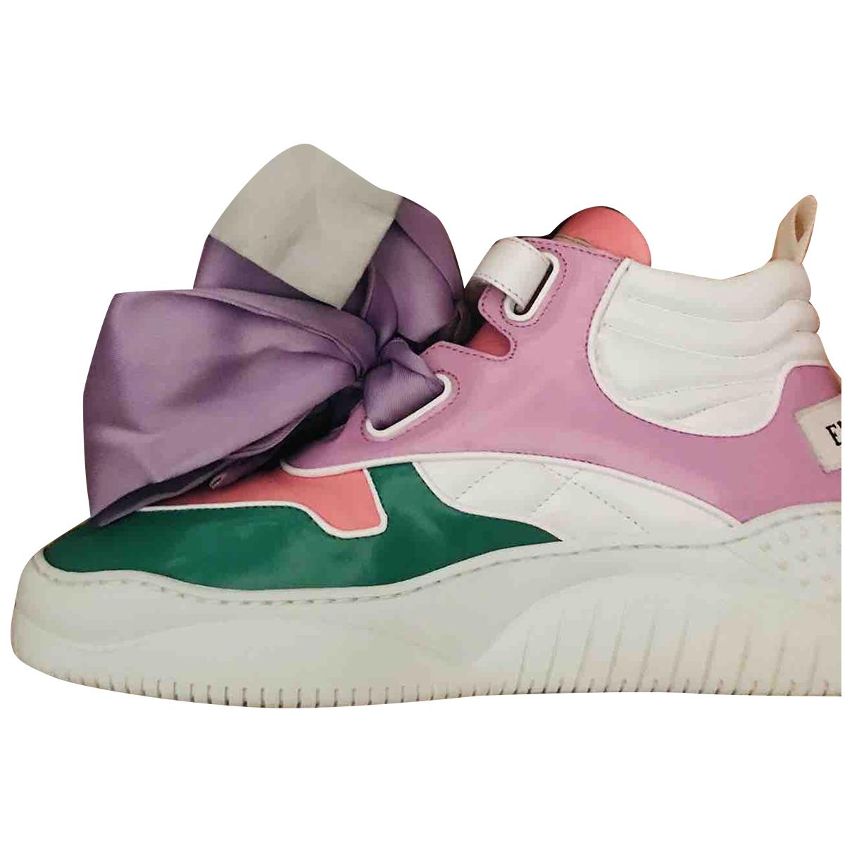 Emilio Pucci - Baskets   pour femme en cuir - multicolore