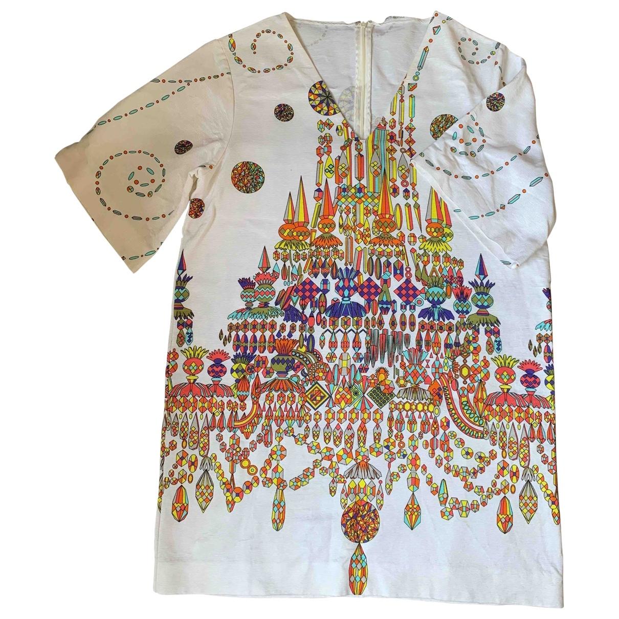 Non Signe / Unsigned Oversize Kleid in  Bunt Baumwolle
