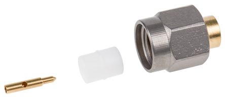 Radiall Straight 50Ω Cable Mount Coaxial Connector, Plug, Gold, Crimp Termination, RG402