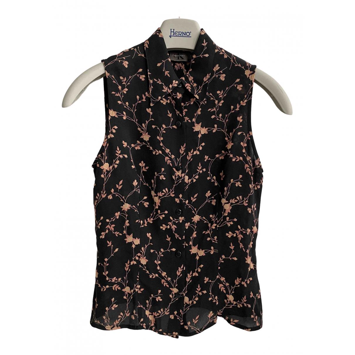 Calvin Klein \N Black Silk  top for Women 2 US
