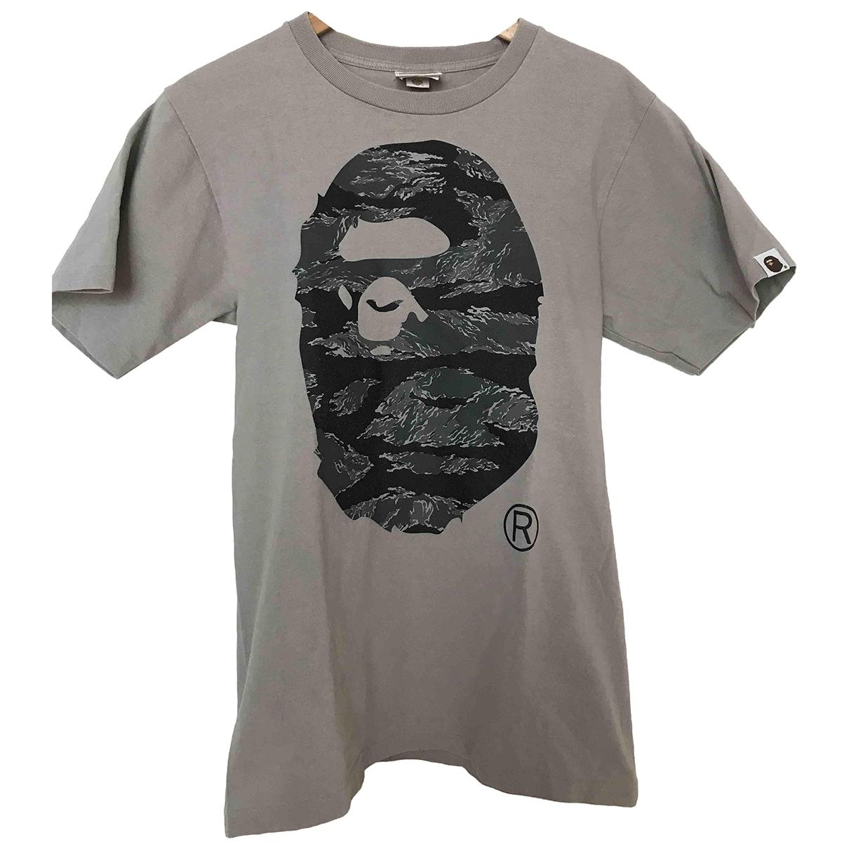 A Bathing Ape \N Grey Cotton T-shirts for Men S International