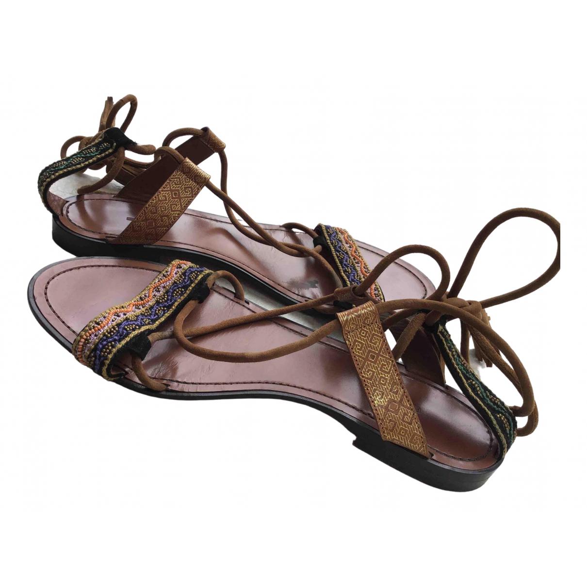 Sandalias romanas de Cuero Etro