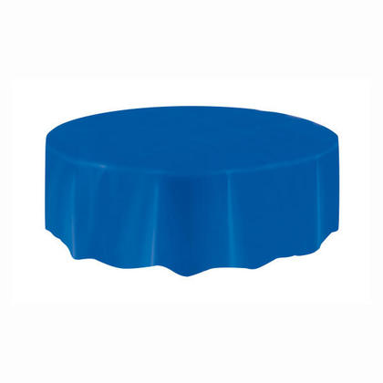 Housse de table ronde en plastique, bleu royal 84