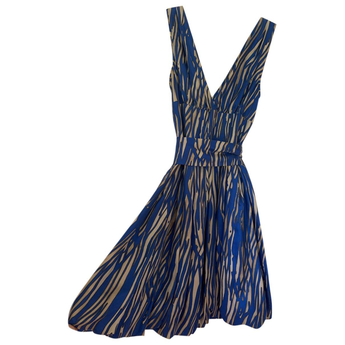 Rachel Zoe \N Kleid in  Blau Seide
