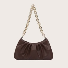 Simple Chain Ruched Bag